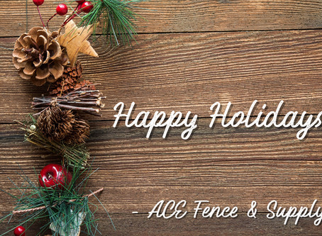 ACE's Holiday Hours