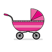 "â€""Pngtreeâ€""pink baby stroller vector"