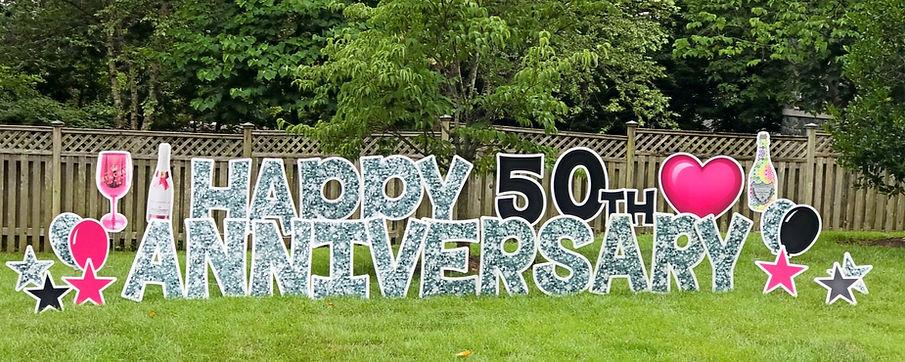 anniversary yard sign potomac