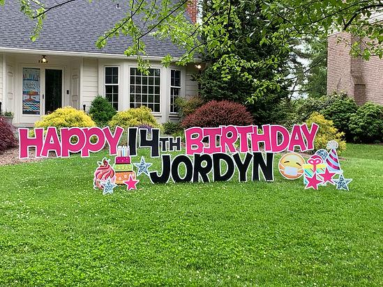 Lawn Sign Potomac Birthday