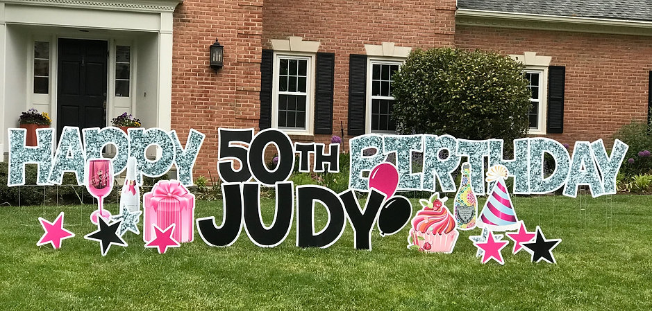 Birthday Lawn Sign Bethesda Image