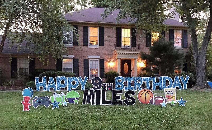 Lawn Sign Birthday Potomac
