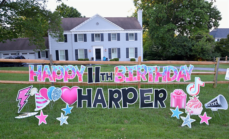Birthday Lawn Sign Bethesda