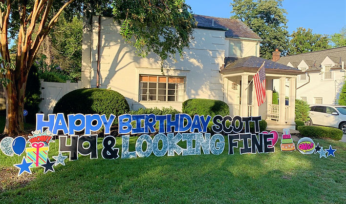Yard Sign Birthday Potomac