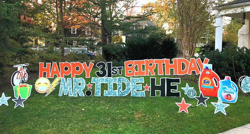 birthday yard card near me