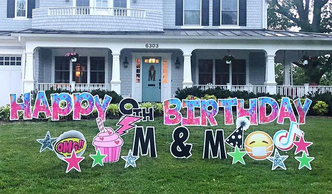 Yard Card Potomac Birthday