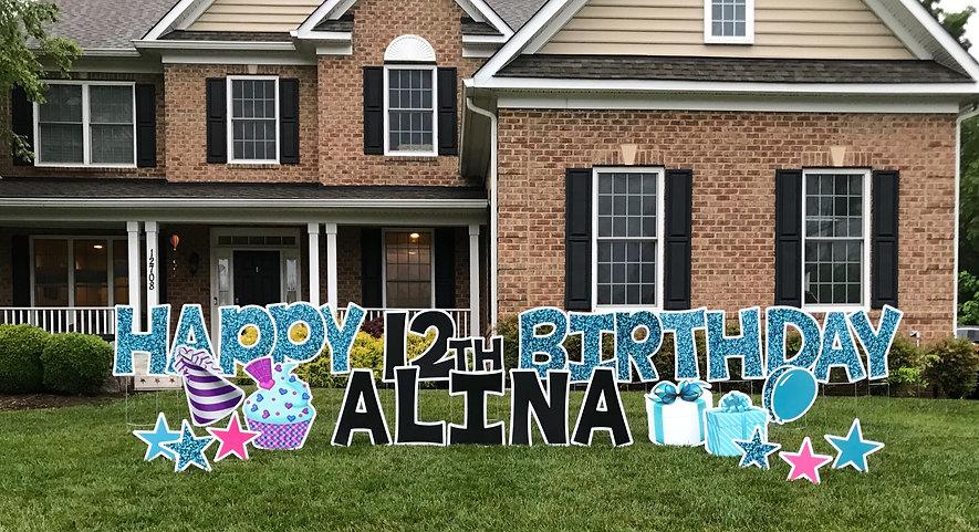 Birthday Lawn Sign Potomac