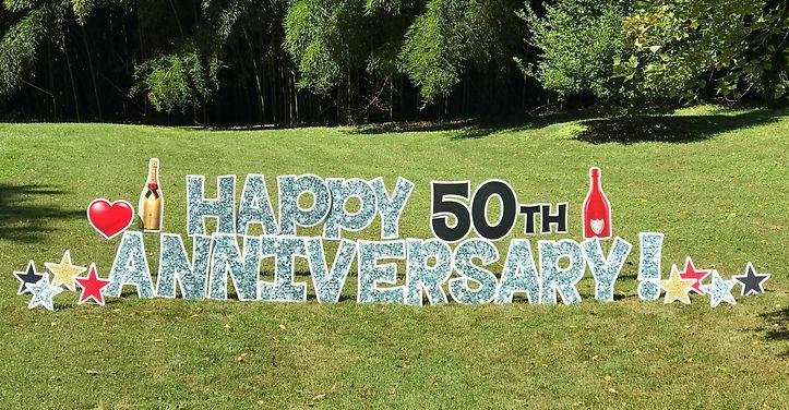 anniversary lawn sign potomac