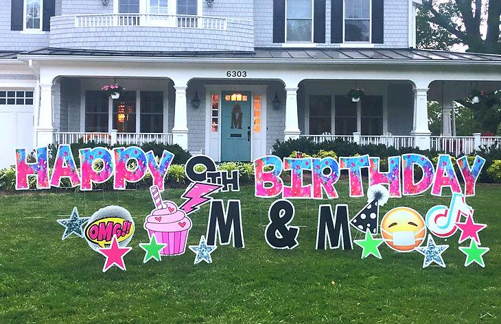 lawn sign birthday