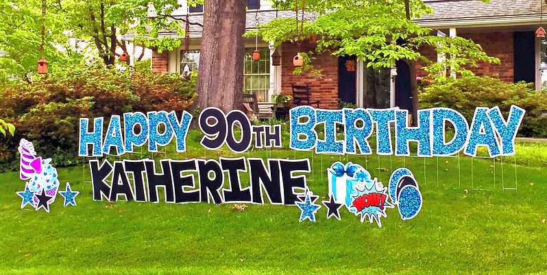 birthday yard sign potomac