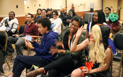 coslay audience laughing