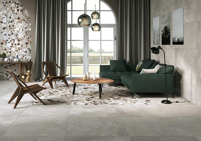 I Cocci-piastrelle-effetto-cemento_Ceramica_Cenere-90x90-60x120_Cenere-Spaccato-90x90-30x30_Fioranese.jpg