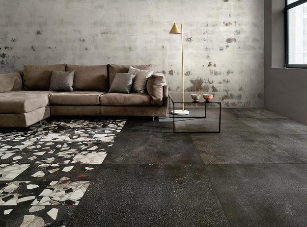 I Cocci-Piastrelle-pavimento_Ceramica_Grafite-90x90_-Spaccato-30x30_Fioranese.jpg