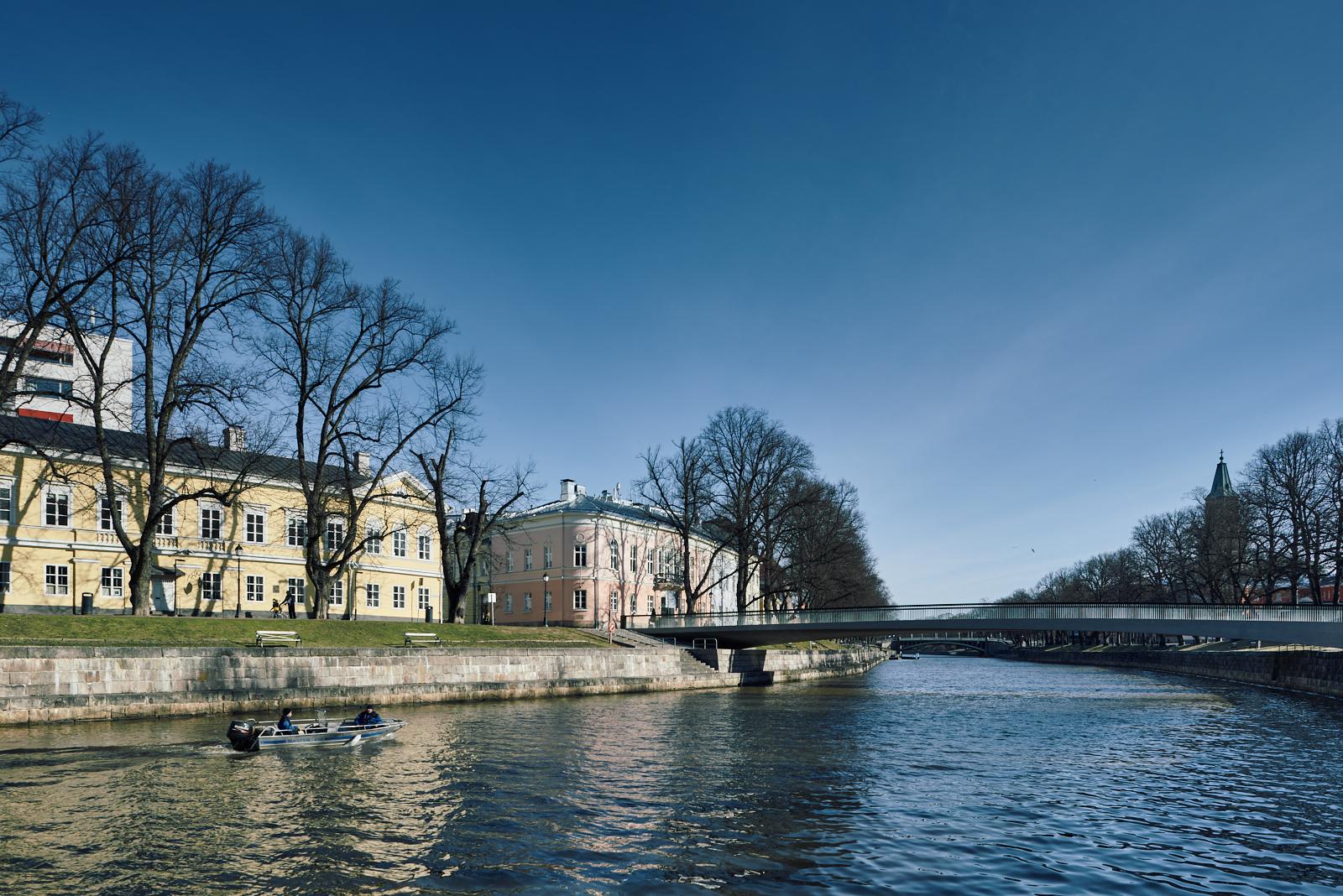 Turku-Åbo | Aurajoki | Kirjastosilta