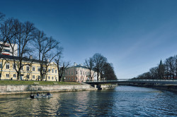 Turku-Åbo   Aurajoki   Kirjastosilta
