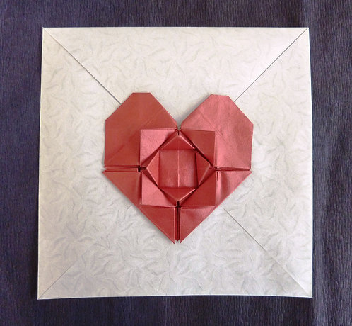Flower heart envelope