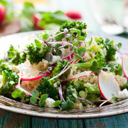 Quinoa salad with microleaves