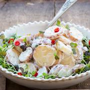Potato salad with microleaves