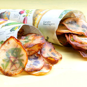 Potato chips with microleaves