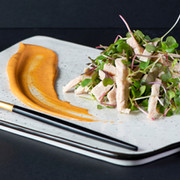 Chicken salad with microleaves