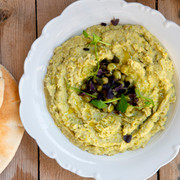 humus pita and microleaves