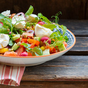 salad with micro-radishes