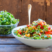 Salad with microleaves