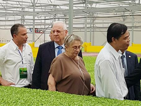 Tổng thống Israel và phu nhân thăm nông trường VinEco Tam Đảo (Vietnamese)