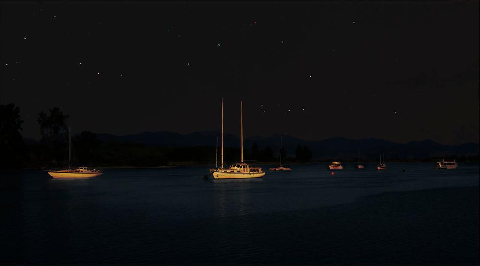 Cushla moorhead-open-S-Boats at night.jp