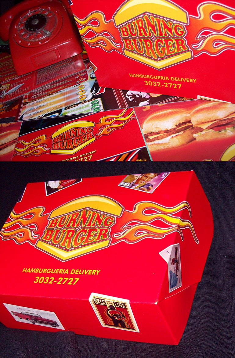 Burning Burger logo design