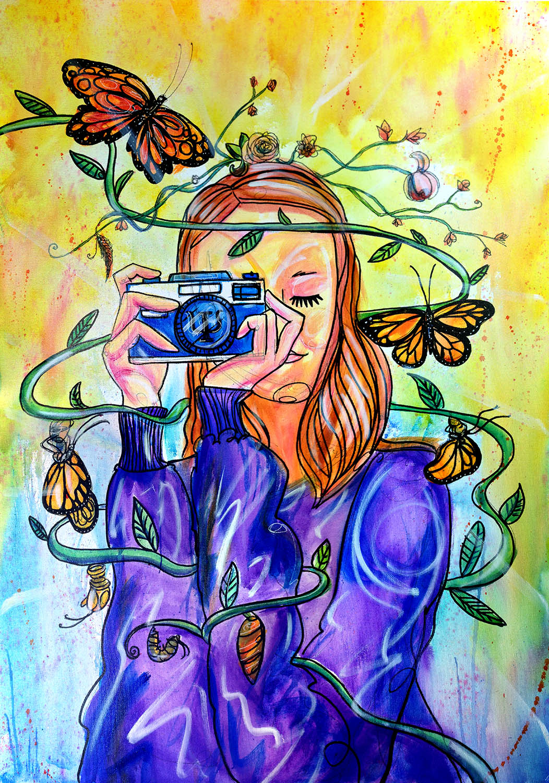 borboletas e fotografia