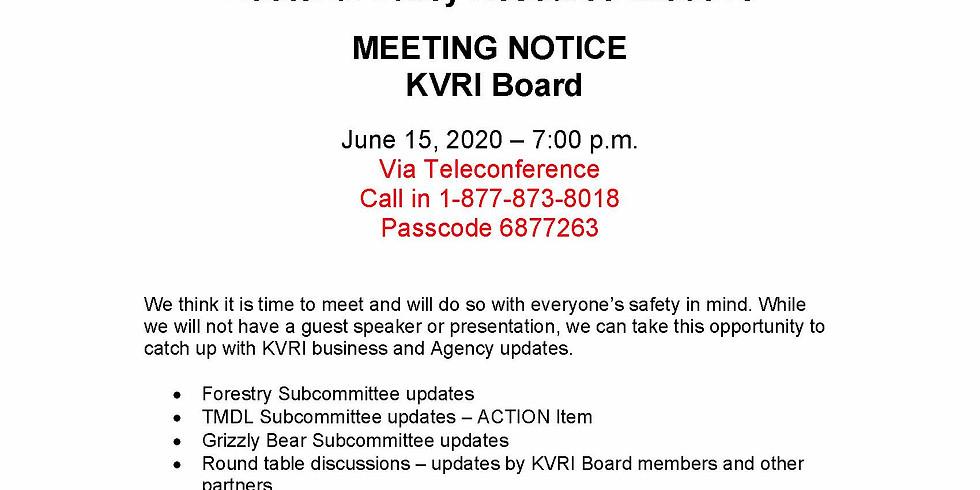 KVRI June 15th Telemeeting - 7pm