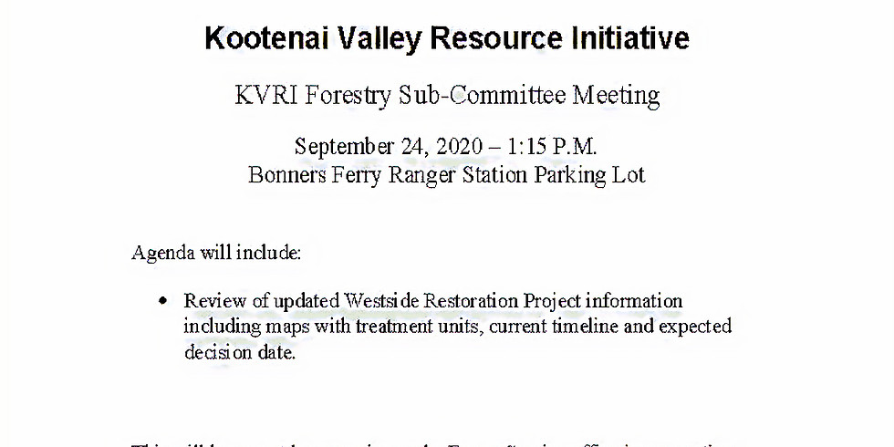 Forestry Sub-Committee Meeting