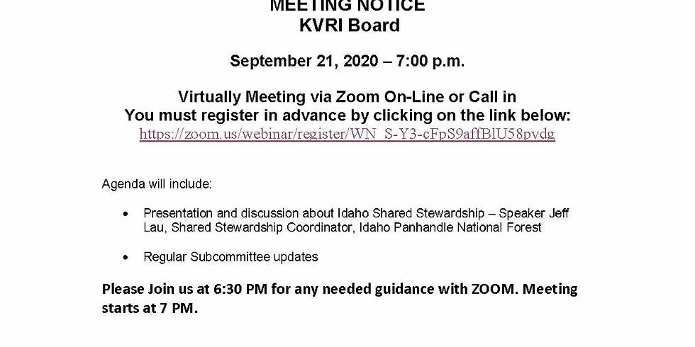 KVRI September 21st Meeting