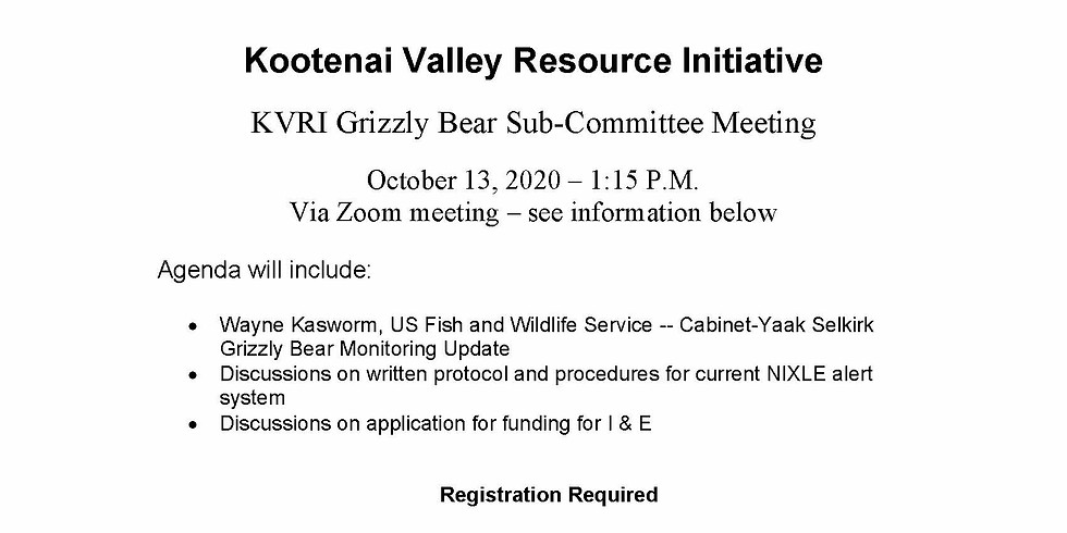 Grizzly Sub-Committee