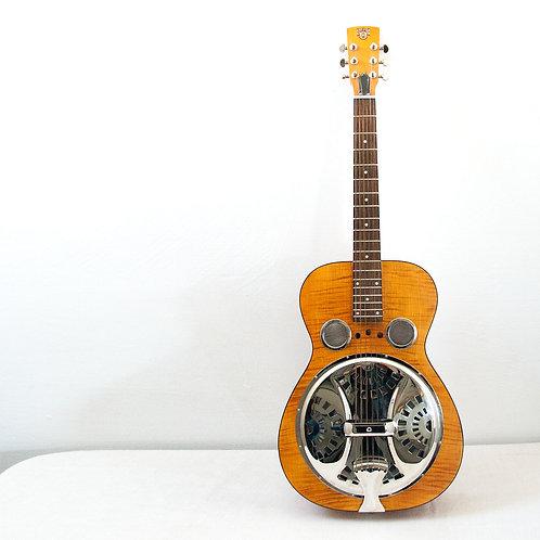Dobro Dobro® Hound Dog Deluxe Round Neck Resonator Vintage Brown