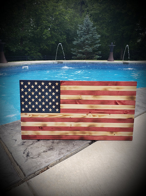 wood flag