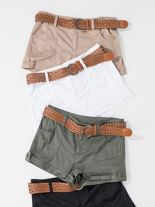 black shorts/lowrise