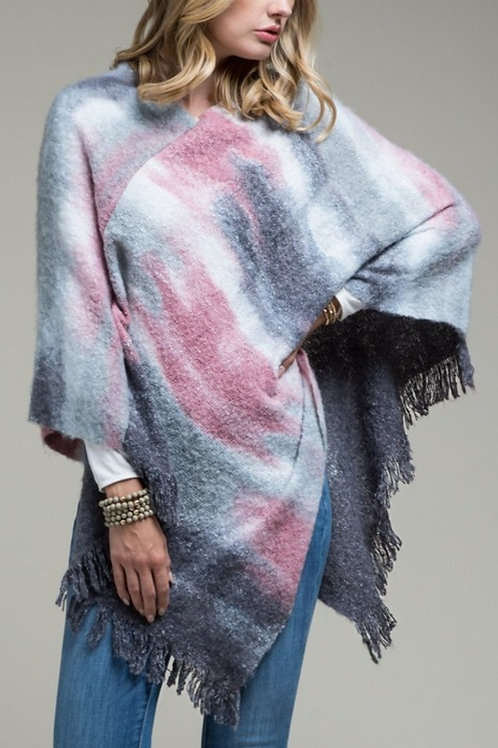 soft knit poncho