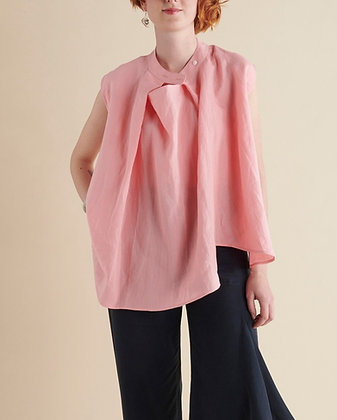 Origami Neck Blouse Rose