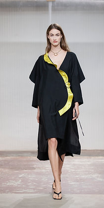 Air Wrap Dress Black