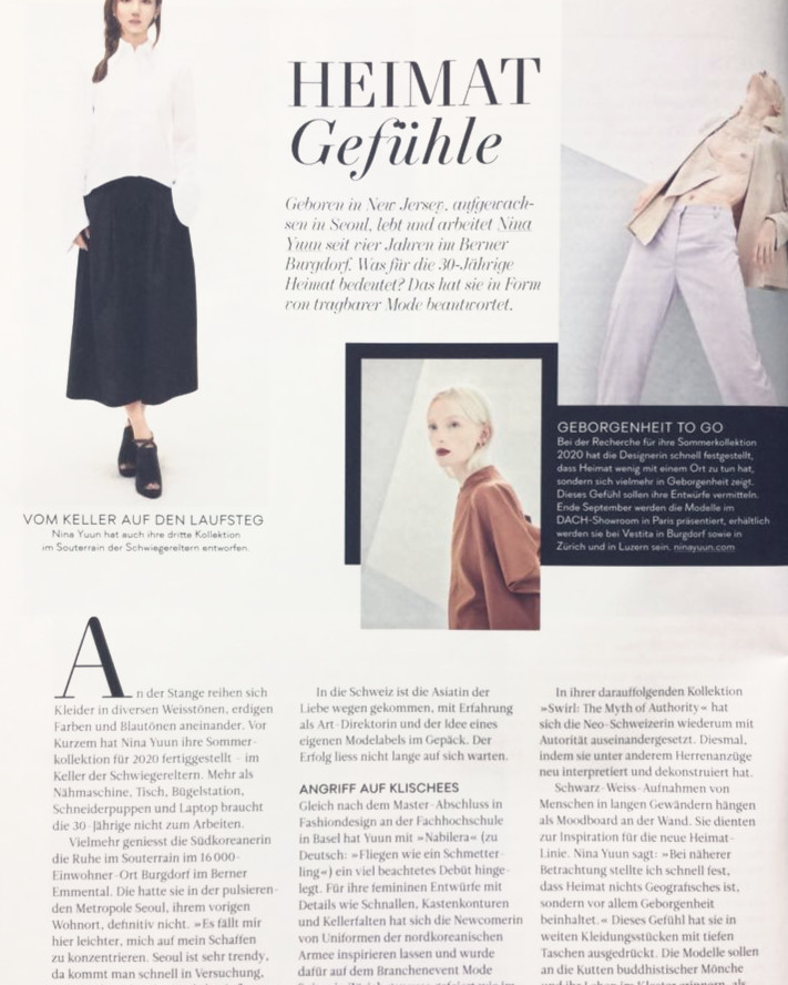 NINA YUUN featured in DIVA Magazine, September 2019
