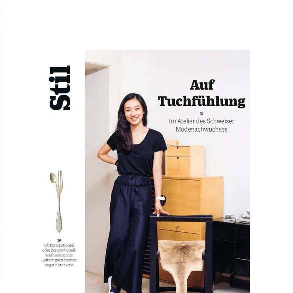 "NINA YUUN featured in ""NZZ Stil"" magazine, September 2018"