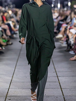 Throw-on Dress Green