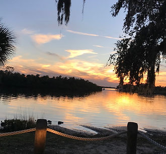 Fort Hamer Florida Sunset