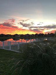 Parrish, FL neighborhood sunset