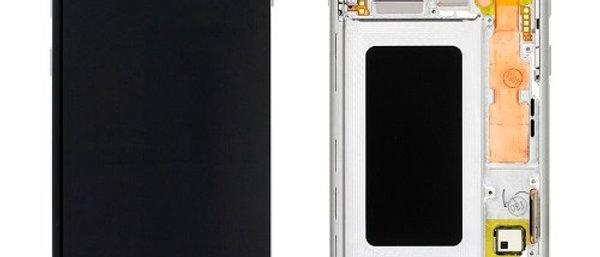 SM-G973F Galaxy S10 LCD / Touch Module / Frame White GH82-18850B