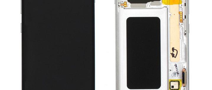 SM-G975F Galaxy S10+ LCD / Touch Module / Frame White GH82-18849B