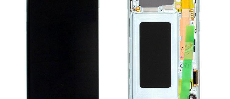 SM-G973F Galaxy S10 LCD / Touch Module / Frame Green GH82-18850E
