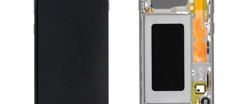 SM-G973F Galaxy S10 LCD / Touch Module / Frame Black GH82-18850A